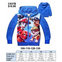 Paw Patrol Jacket C537B (Brand New)Go to this URL for more jackets. https://www.facebook.com/pg/myLOOTz/photos/