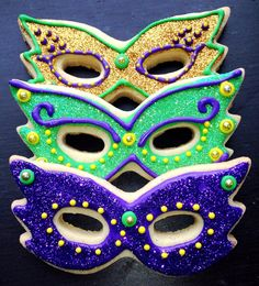 Mardi Gras Cookies by SweetWildFlour on Etsy, $15.00