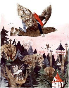 Illustration by Carson Ellis from Wildwood, written by her husband, Colin Meloy