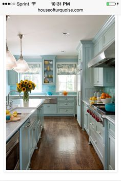 House of turquoise blog! Love the blue color.