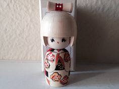 Vintage Japanese Kokeshi Doll in Box by JustMidCentury on Etsy