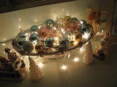 Christmas balls lit up