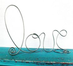 Silver Wire LOVE wedding decorations, wedding cake toppers, wedding centerpieces, wedding supplies, via Etsy. Rustic Cake Toppers, Wedding Cake Toppers, Wedding Cakes, Chalkboard Table Numbers, Chalkboard Wedding, Wedding Centerpieces, Wedding Decorations, Art Fil, Love Cake Topper