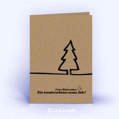 Eco Christmas cards No. 65 brown with a hand-painted Christmas tree show . Eco Christmas cards No. 65 brown with a hand-painted Christmas tree show a simple motif. Chrismas Cards, Simple Christmas Cards, Christmas Card Crafts, Christmas Gift For You, Homemade Christmas Gifts, Christmas Greeting Cards, Christmas Tree Painting, Diy Cards, Homemade Cards