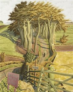 Late for Rehearsal'' Signed, watercolour, by Simon Palmer Landscape Drawings, Landscape Art, Landscape Paintings, Landscapes, Art Is Dead, Leave Art, Cottage Art, Contemporary Landscape, Mountain Landscape