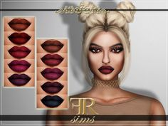 The Sims Resource: Lipstick N19 by FashionRoyaltySims • Sims 4 Downloads