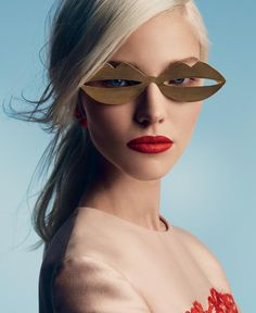 """stormtrooperfashion:  Sasha Luss in """"A Perfect Eye"""" by Patrick Demarchelier for Vogue Russia, January 2014"""