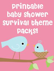 Printable baby shower games, water bottles labels and decor!
