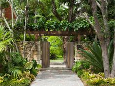 Coconut Grove in Florida landscaped by Raymond Jungles Inc