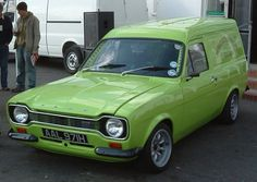 Ford escort van in white but he painted it mint julep green too! Escort Mk1, Ford Escort, Ford Motor Company, Ford Capri, Classic Motors, Classic Cars, Ford Orion, Camaro Iroc, Ford F Series