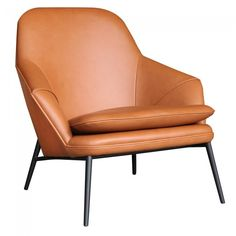 Hug Leather Lounge Chair by Wendelbo | Clickon Furniture