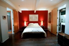 Bedroom:Options For Modern Bedroom Ideas For Couples With Romantic Theme Red Mas… Bedroom:Options For Modern Bedroom Ideas For Couples With Romantic Theme Red Master Bedroom Color Scheme With Modern Style King Size Bed Suits For Couple Ideas Red Master Bedroom, Red Bedroom Design, Romantic Bedroom Design, Accent Wall Bedroom, Couple Bedroom, Accent Walls, Bedroom Designs, Interior Design, Bedroom Color Schemes