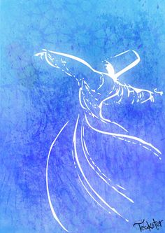 Whirling Dervishes by Teakster on DeviantArt Whirling Dervish, Turkish Art, Dance Pictures, Sufi, Islamic Art, Artist Art, Watercolor Flowers, Art Lessons, Abstract Art