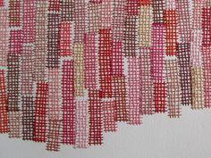 Embroidery work in progress by Emily Barletta