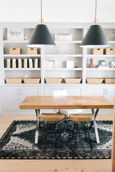 Traditional gray, black and neutral office decor: http://www.stylemepretty.com/living/2016/04/27/50-reasons-to-fall-madly-in-love-with-trad-decor/
