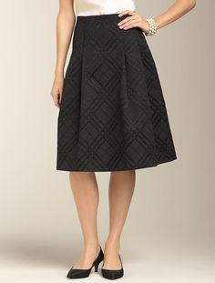 Talbots - Plaid Jacquard Pleated Skirt | New Arrivals | Misses