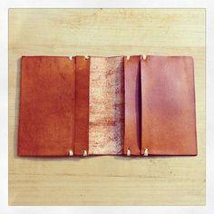 Handmade Leather Folded Card Wallet by FarrellandCompany on Etsy-SR