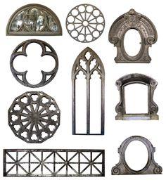 ventanas y tragaluces al estilo gótico