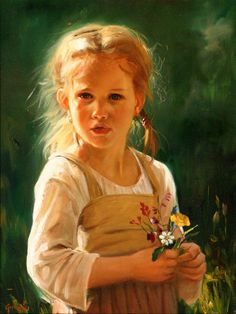 Laszlo Gulyas (1960, Hungarian). The artist has really captured the young girl's expression.