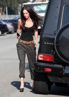 50 Wonderful Street Style Outfits To Try In 2016 Street Style Outfits, Looks Street Style, Casual Outfits, Summer Outfits, Cute Outfits, Megan Fox Outfits, Look Fashion, Fashion Outfits, Womens Fashion