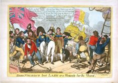 Brave Nelson's last Lash or a memento for the Dons (caricature) - National Maritime Museum