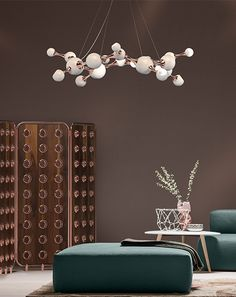 A contemporary descendant of retro sphere lighting, Atomic suspension lamp is a spot-on interpretation of the atomic age design.
