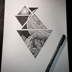 Space Galaxy Astronomy Dotwork Tattoo Design Small Tattoo