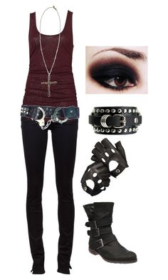 """Untitled #153"" by bvb3666 ❤ liked on Polyvore featuring Paige Denim, Steve Madden, Aspinal of London, Pamela Love, women's clothing, women, female, woman, misses and juniors"