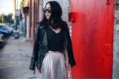 Reflective clothing is cool. 🤘 in @skingraftdesigns and @zara. Linked some rad reflective skirts here http://liketk.it/2psFi #ootd #metallic #liketkit @liketoknow.it 📸@ryanbyryanchua