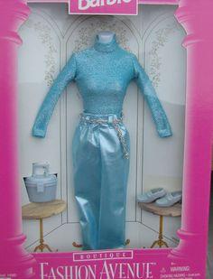 Barbie Fashion Avenue Boutique 1996 Sea Blue Pant Outfit Plus Accessories 14980 | eBay