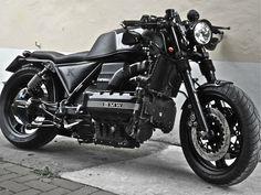 Black bobber BMW