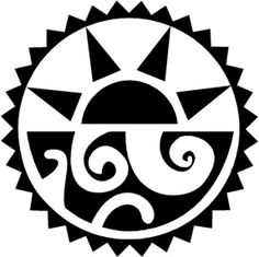 This´s kinda tribal almost aztec style tattoo, I thought about the sun over the sea. Aztec-Tribal Sun and Sea Aztec Symbols, Mayan Symbols, Native Art, Native American Art, Tattoo Samples, Tribal Sun, Sea Tattoo, Aztec Art, Sun Art