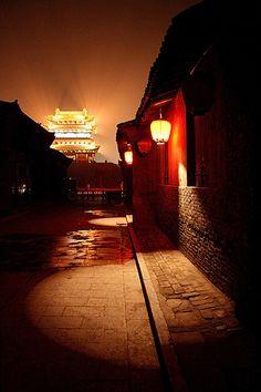 lights in pingyao, china    China photo
