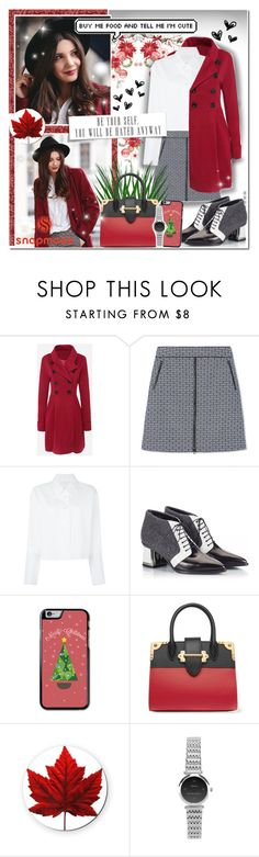 """""""Wine Red"""" by angelstylee ❤ liked on Polyvore featuring WithChic, Tory Burch, Maison Margiela, Alberto Guardiani and Prada"""