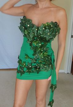 Sexy Kim Poison Ivy Halloween Costume, custom made size XS-L