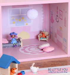 Wall Decals Doll House Reusable Set for girls by LichiBlue on Etsy