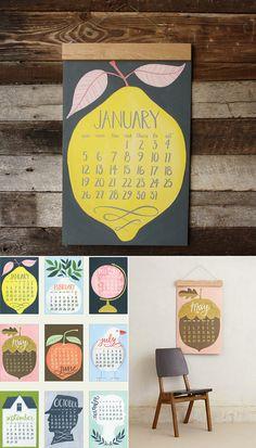 Divertido calendario! Schöne Kalender für 2014 #imprimir_en_Barcelona es muy fácil con nosotros