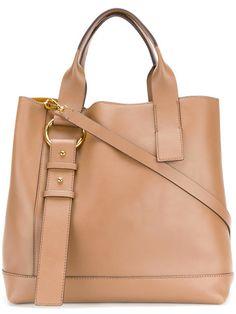 Designer Tote Bags - Designer Bags for Women Logo Stamp, Embossed Logo, Shoulder Strap, Shoulder Bags, Marni, Calf Leather, Leather Backpack, Halo, Calves