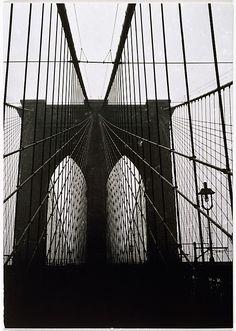 Walker Evans (American, 1903–1975). [Brooklyn Bridge, New York], 1929, printed ca. 1970. The Metropolitan Museum of Art, New York. Gift of Arnold H. Crane, 1972 (1972.742.3) © Walker Evans Archive, The Metropolitan Museum of Art #newyork #nyc