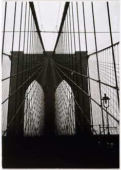 Walker Evans (American, 1903–1975). [Brooklyn Bridge, New York], 1929, printed ca. 1970. The Metropolitan Museum of Art, New York. Gift of Arnold H. Crane, 1972 (1972.742.3) © Walker Evans Archive, The Metropolitan Museum of Art #newyork #nyc
