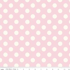 Cotton Fabric, Light Pink Polka Dot, Riley Blake Designs, La Crème