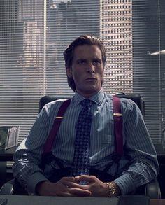 Christian Bale as Patrick Bateman in Mary Harron's 2000 film, American Psycho.