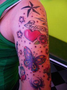 Tattoo Sternchen Schmetterlinge Herz www.portroyal.de