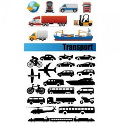 color and b/w transport icon silhouettes set Energy Symbols, Vector Free Download, Graphic Art, Transportation, Silhouettes, Illustration, Color, Design, Free Vector Downloads
