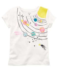 Old Navy Girls/' White Sleeveless Shirt Top with Sequin Watercolor Shapes