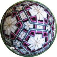 japanese embroidery - temari ♡ these. Have made them before. This is an exceptionally nice pattern on this one.