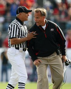 Mark Richt.....even when he's mad he's hot!!