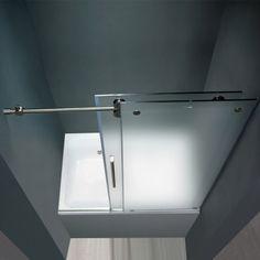 frosted sliding bathtub glass doors