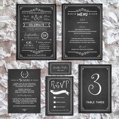 Printable DIY Chalkboard Wedding Invitation Set | MountainModernLife.com