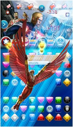 #Falcon #Fan #Art. (Sam Wilson (Falcon) Inspiration Move, In: Marvel Puzzle Quest!) By: AMADEUS CHO! (THE * 5 * STÅR * ÅWARD * OF: * AW YEAH, IT'S MAJOR ÅWESOMENESS!!!™)[THANK Ü 4 PINNING<·><]<©>ÅÅÅ+(OB4E)  https://s-media-cache-ak0.pinimg.com/564x/70/d1/26/70d12608d0e47c67c1d4c581a7f35be6.jpg